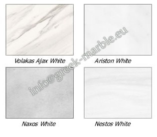 marble Volakas White, Ariston White, Nestos, Naxos
